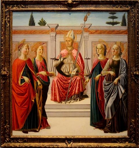 作品名聖ニコラウスと聖カタリナ 国立西洋美術館 引用