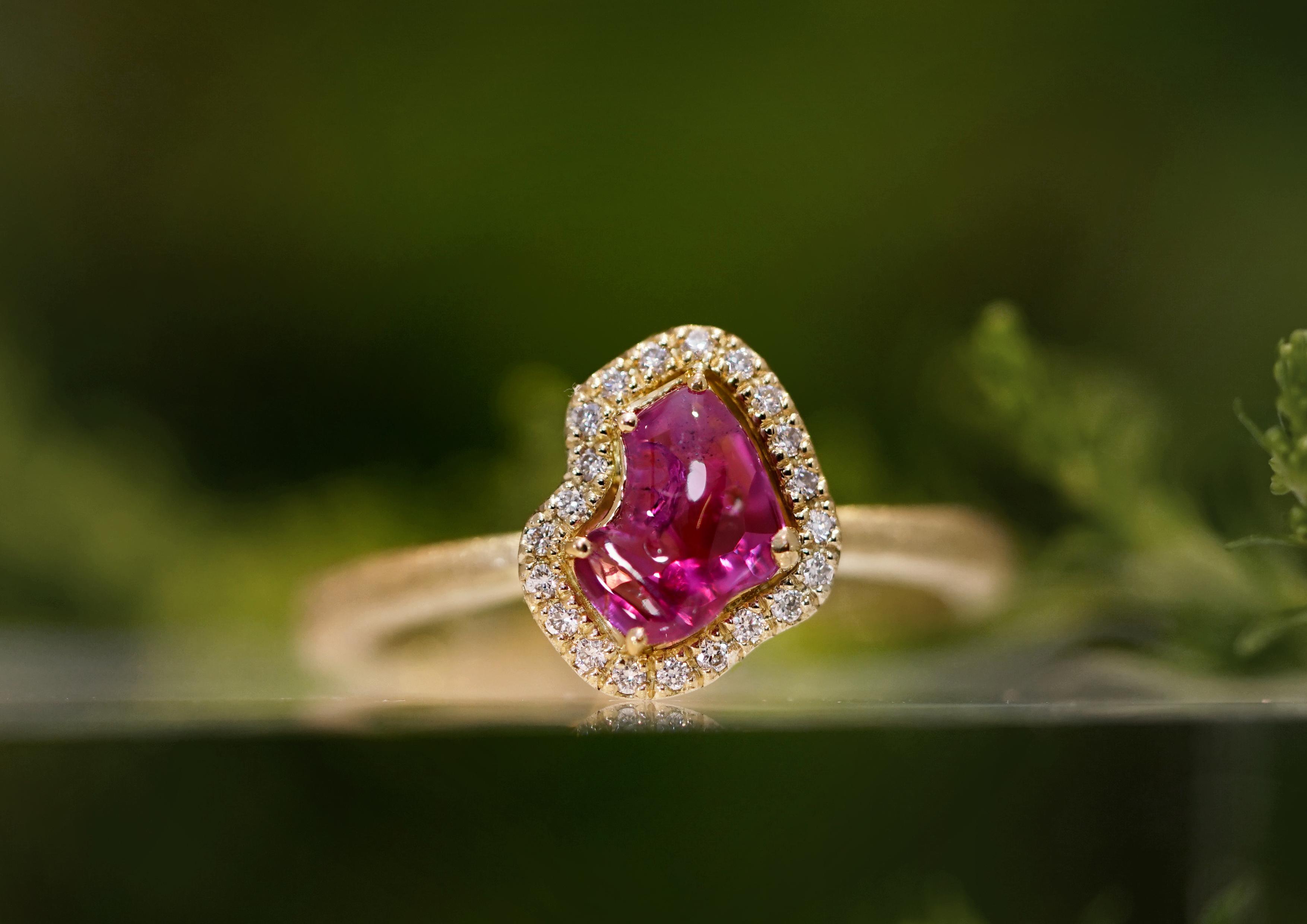 ミャンマー産天然無処理ルビーリング(指輪)