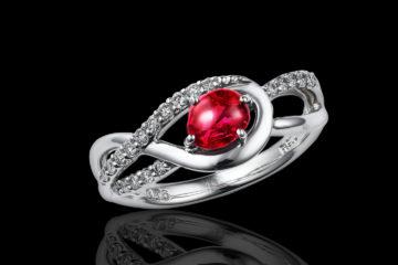 ルビーの指輪モリスルビー0.45ct(ミャンマー産天然無処理ルビー)の画像