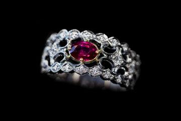 ルビーの指輪モリスルビー0.79ct(ミャンマー産天然無処理ルビー)の画像