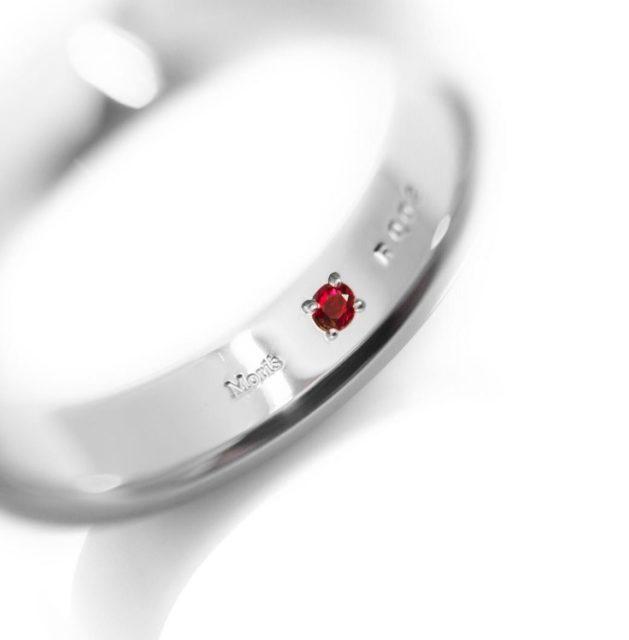 ルビーの結婚指輪,ルビー,ルビーの指輪