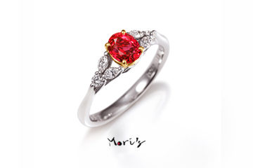 RED/WHITE | 婚約指輪  | 天然ルビーの画像