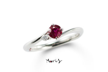 MyLife04 | 婚約指輪  | 天然ルビーの画像