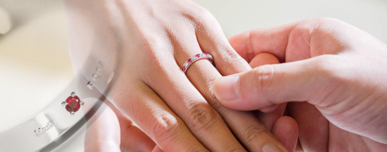 ルビーの結婚指輪,ルビーの婚約指輪